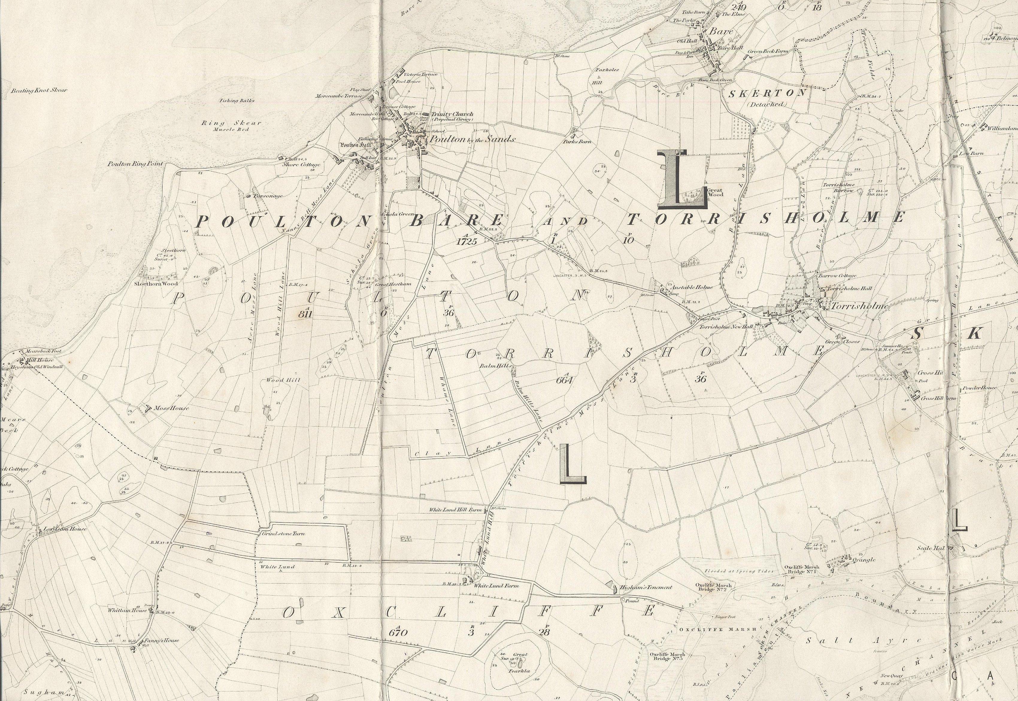 O.S. Morecambe 1844/45