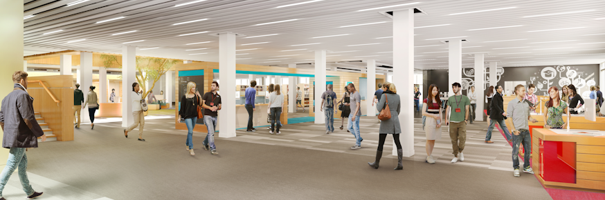 Library refurbishment - artist's impression